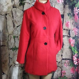 Focus 2000 Red knit coat Size 4